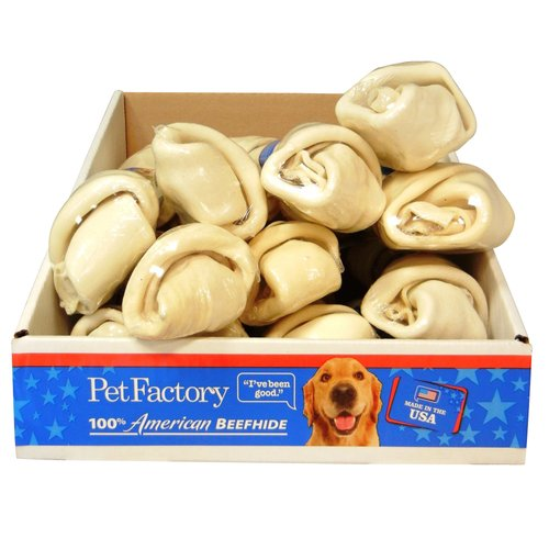 """Pet Factory 100% American Beefhide 9"""" Bone for Dogs"""