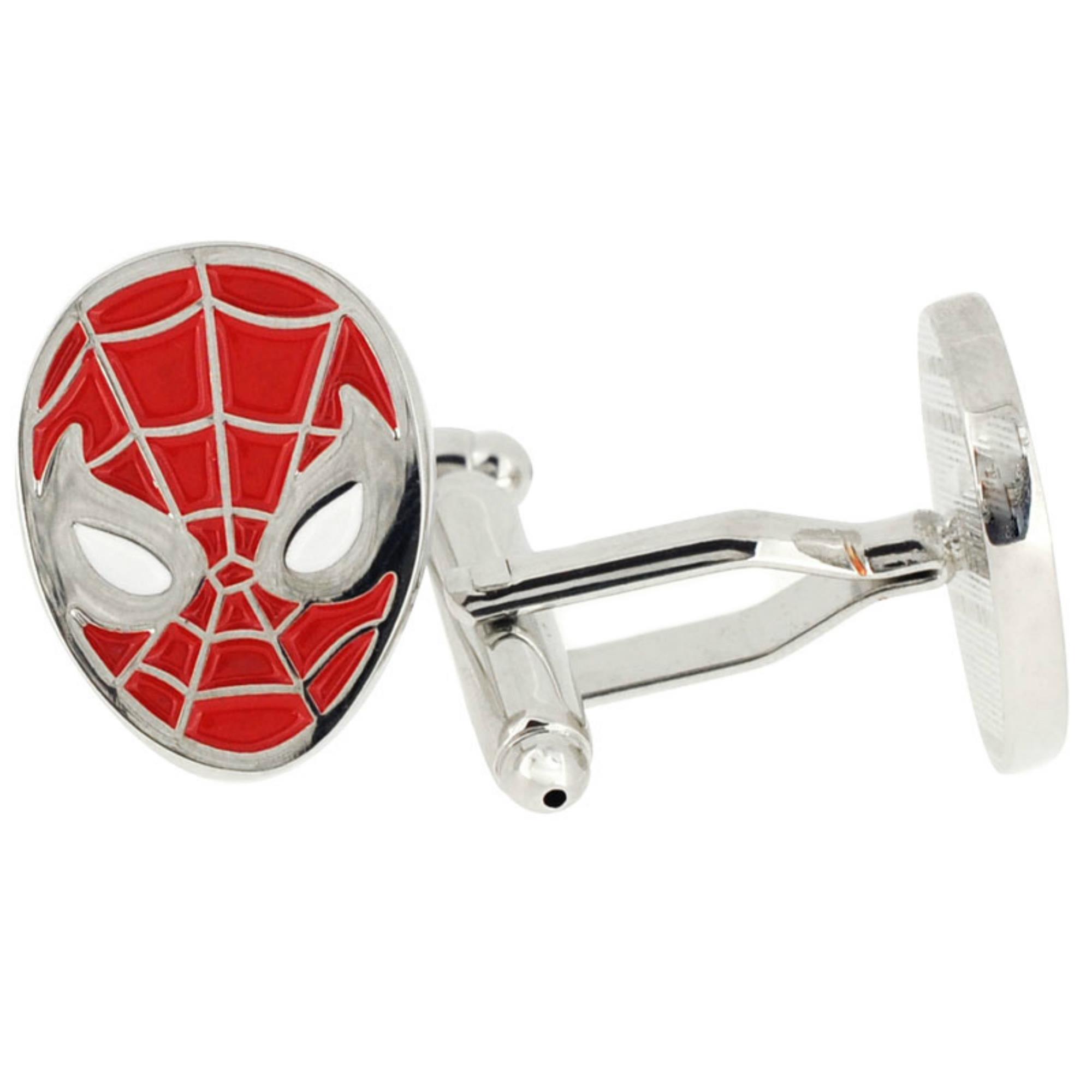 Superheroes Marvel Comics (Captain America) Spiderman Mask Cufflinks