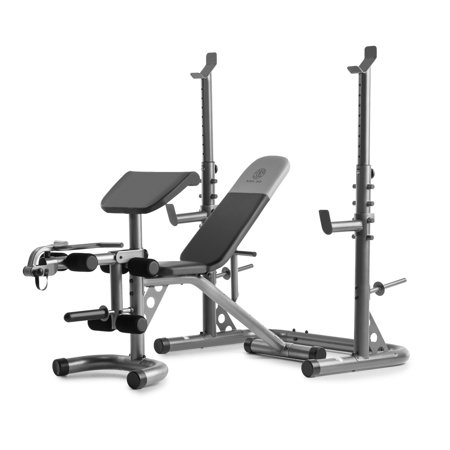 Gold's Gym XRS 20 Olympic Workout Bench with Squat Rack (Marcy Weight Bench Set)