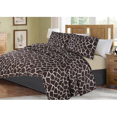 3-PIECE ANIMAL #4 CHEETAH KING LUXURY MIDWEST MODREN ANIMAL WILD PRINT DESIGN Solid Microfiber Quilting Bedding Bedspread Coverlet Set Matching Pillow Sham &