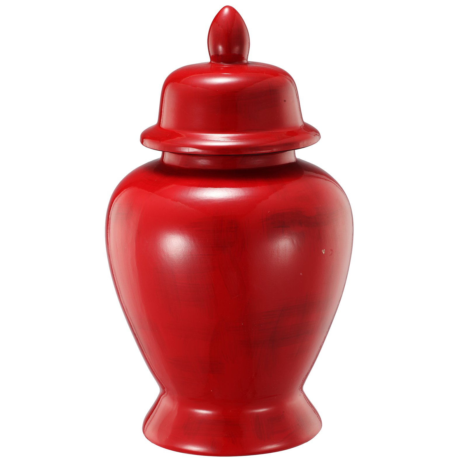 A and B Home Crimson Stria Ginger Jar