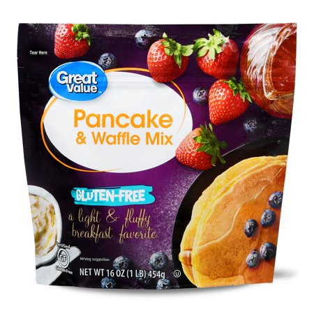 (2 Pack) Great Value Gluten-Free Pancake & Waffle Mix, 16 oz