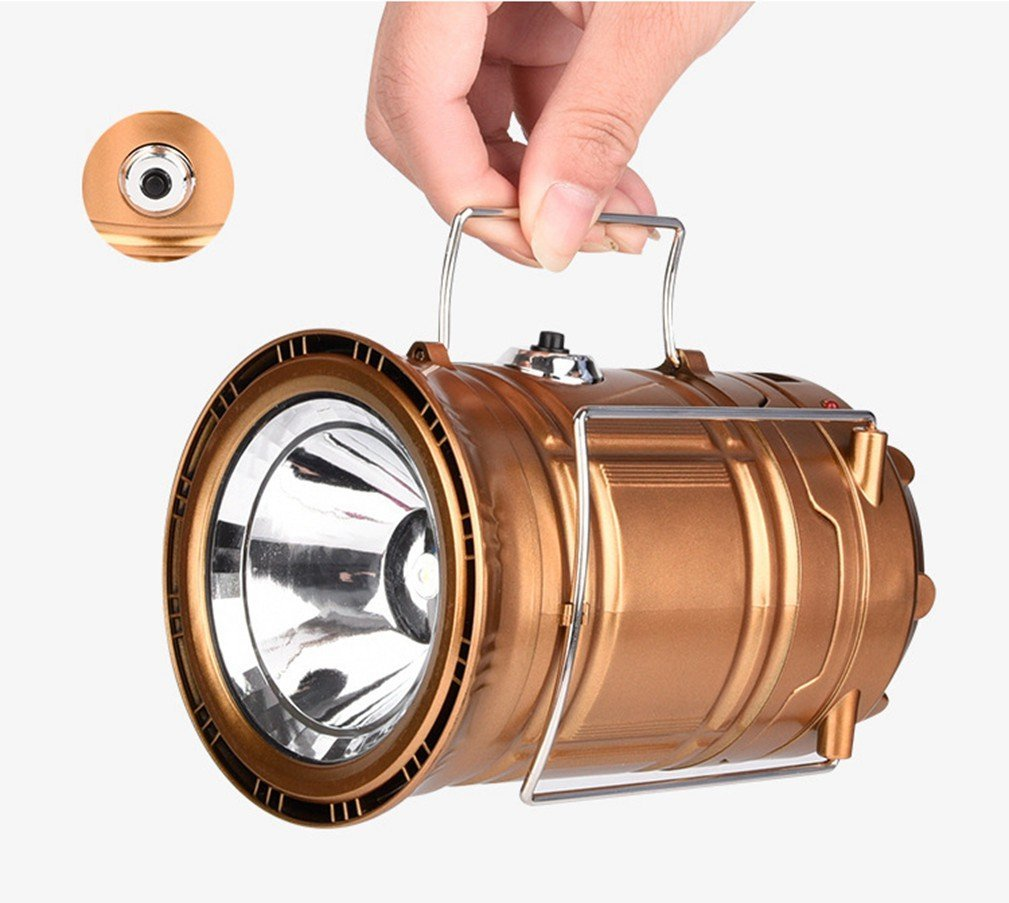 Click here to buy Camping Lantern Lights Tactical Flashlight Solar Folding 6 LED Bright Lamp Emergency Tent Light for Outdoor Play Camp Hiking Fishing....