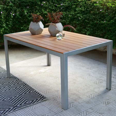 C Coast Southwick Outdoor Aluminum Faux Wood Patio Dining Table