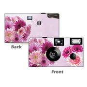 Pink Gerbera Disposable Cameras 5 Pack Free Shipping Wedding Anniversary Camera