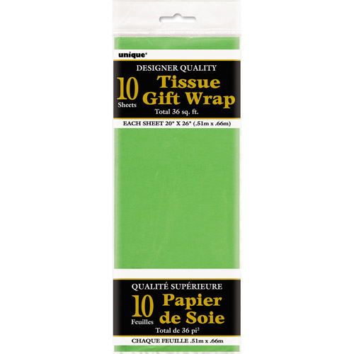 Lime Green Tissue Paper Sheets, 10pk