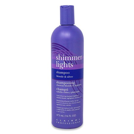 Clairol Professional Shimmer Lights Blonde and Silver Shampoo, 16 Fl Oz