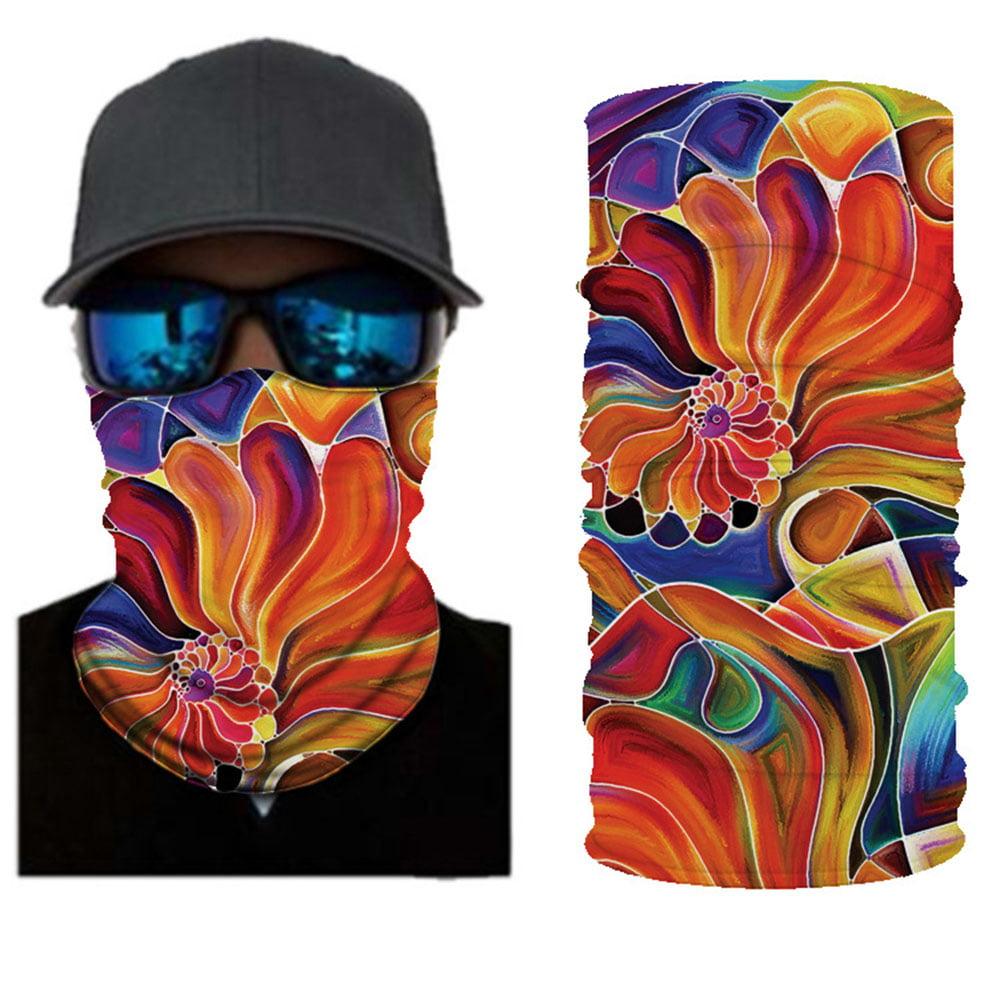 Neck Gaiter Tube Scarf Bandana Face Cover Headband Outdoor Snood B5H2