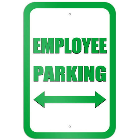 Employee Parking Double Arrow Green Sign Double Down Arrow Sign