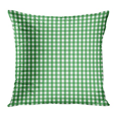 ECCOT Colors Green and White Gingham Check Pattern This Classic Traditional Will Seamlessly Cool Fresh Plaid Pillow Case Pillow Cover 18x18 (Classic Business Check Pattern)