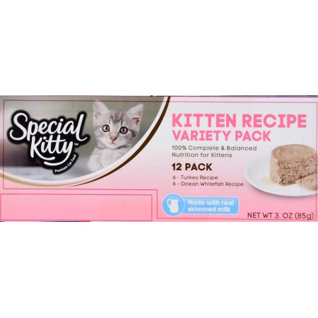 (2 Pack) Special Kitty Kitten Recipe Variety Pack, 3 oz, 12 count