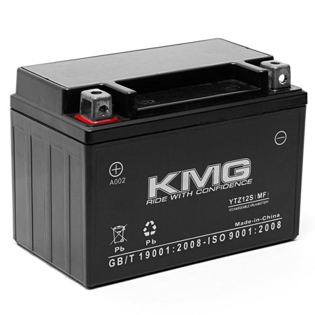 KMG Honda NSS250 Reflex 2001-2009 Replacement Battery YTZ12S Sealed Maintenace Free Battery High Performance 12V SMF OEM Replacement Maintenance Free Powersport Motorcycle Scooter Die Hard Powersport Battery