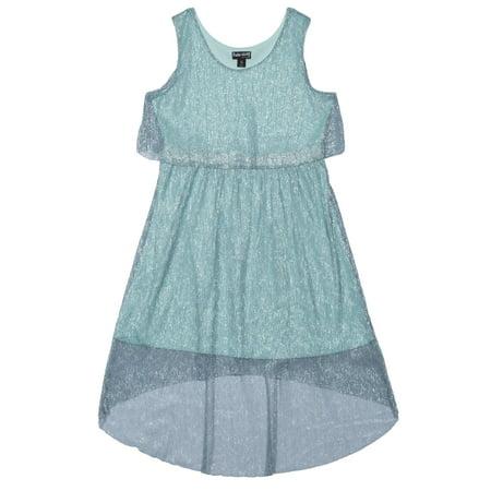Pogo Club Girls' Fancy Crinkle Mesh Metallic Dress for $<!---->