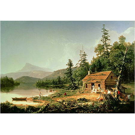 "Trademark Art ""Home in the Woods 1847"" Canvas Art by Thomas Cole"