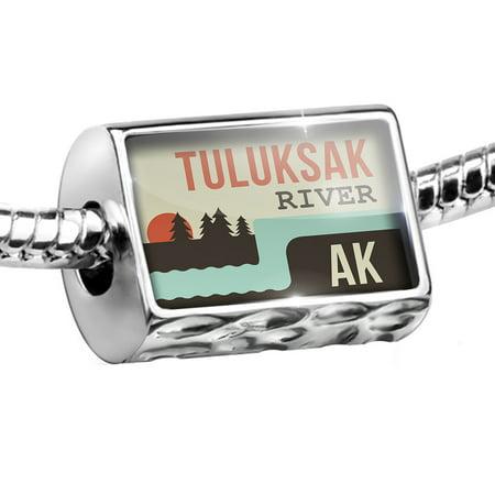 Alaska Jewelry (Bead USA Rivers Tuluksak River - Alaska Charm Fits All European)