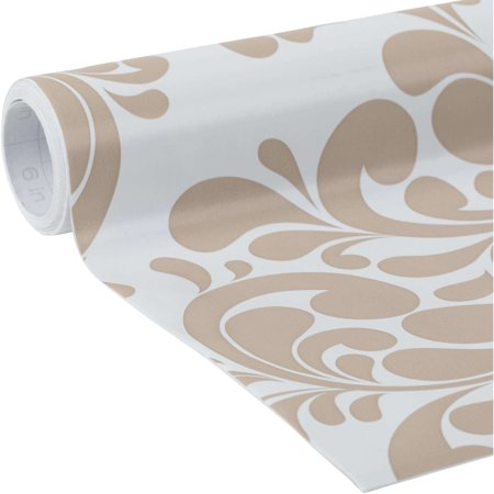 EasyLiner Adhesive Laminate 20 In. x 12 Ft. Shelf Liner, Taupe Swirl