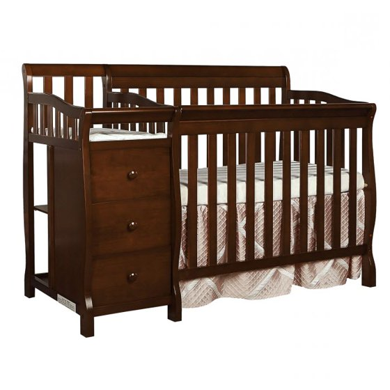 Dream On Me Jayden 4 In 1 Mini Convertible Crib And Changer Cherry