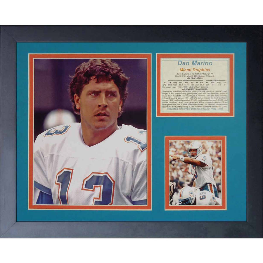 "Legends Never Die ""Dan Marino Portrait"" Framed Photo Collage, 11"" x 14"""