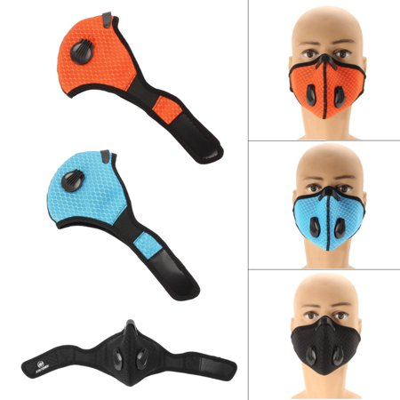 Honeycomb Mesh Cloth Breathable Anti Pollution Mask Allergy PM 2.5 Half Face Masks for Biking Motorcycling Running (Cloth Mask)