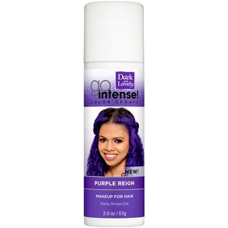 SoftSheen-Carson Dark and Lovely Go Intense Temporary Hair Color Sprays, Purple Reign, 2 oz - Green Hair Spray