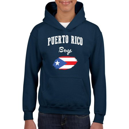Puerto Rico Boy Youth Hoodie Hooded Sweatshirt (Puerto Rico Costume For Boys)