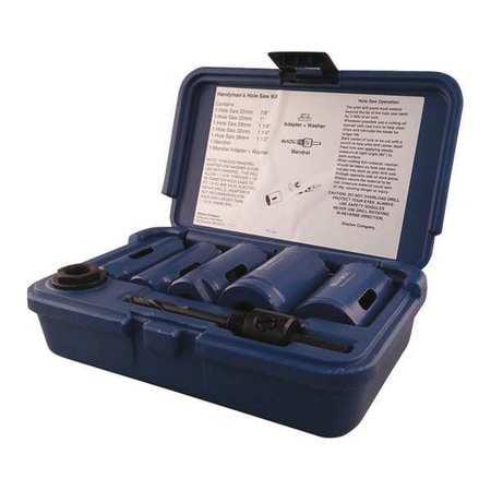 Handyman Bi-Metal Hole Saw Kit,7 pcs. BLU-MOL 9595 by Blu-Mol