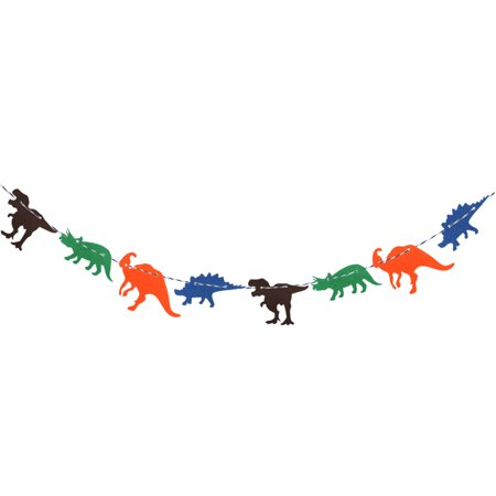 (3M Cute Non-woven Dinosaur Flag Creative Garland Banner Birthday Party Room Decoration Supplies)