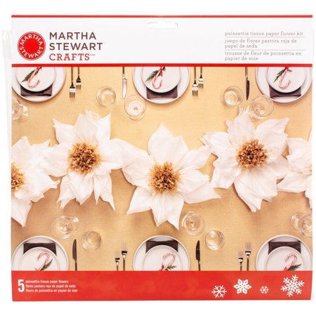 Tissue Paper Poinsettia, White, Martha Stewart Crafts By Martha Stewart Crafts Ship from US