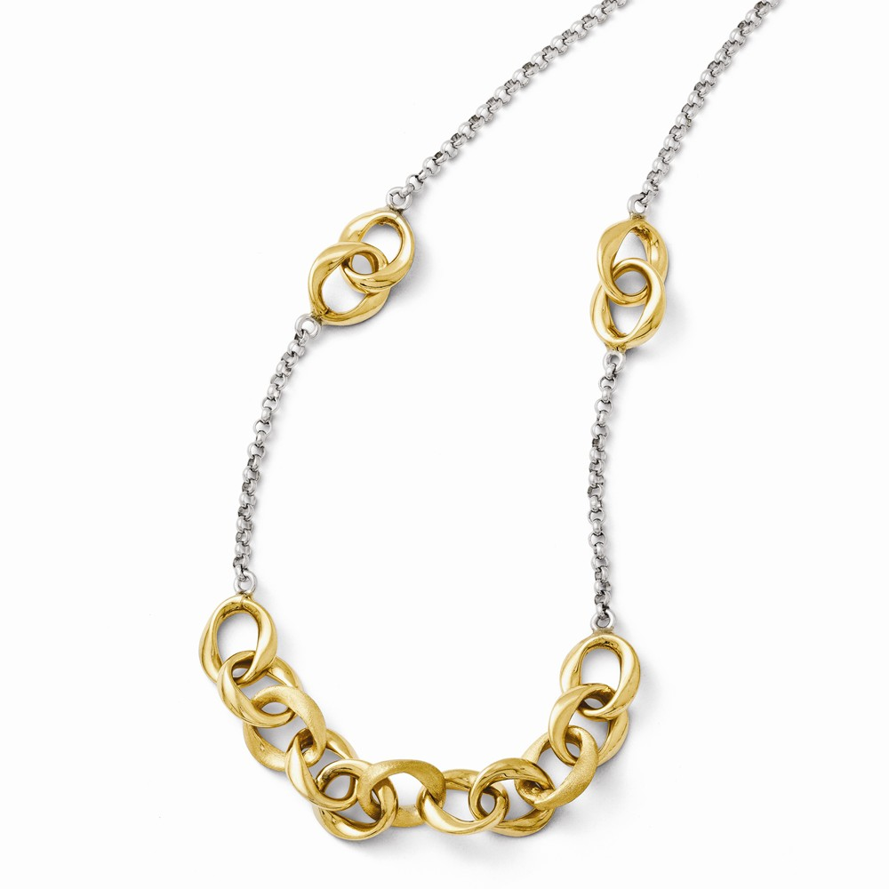 Sterling Silver Gold-Plated Necklace