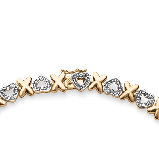 Hearts And Kisses Bracelet: Diamond Accent Hearts And Kisses