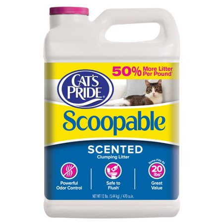 Cats Pride Scoopable Cat Litter  12 Lb