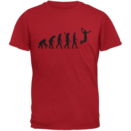 Basketball Evolution Red Adult T-Shirt (Best Red Basketball Jersey)