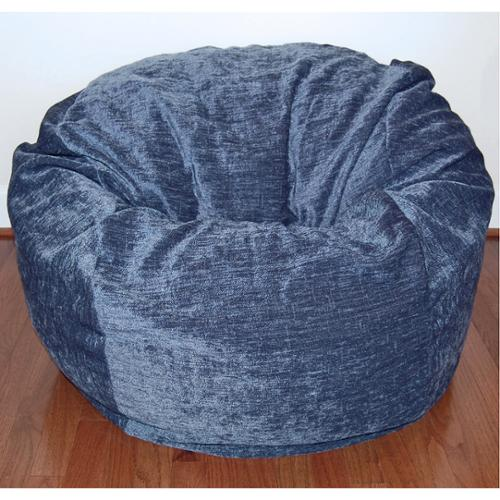 Ahh Products Navy Chenille 36-inch Wide Washable Bean Bag Chair