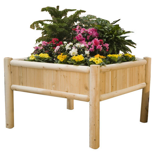 Rustic Natural Cedar Furniture Square Raised Garden