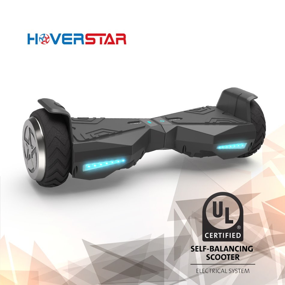 "6.5"" Metal Wheel Hoverboard Two-Wheel Self Balancing Electric Scooter UL 2272 Certified, Black , New Design"