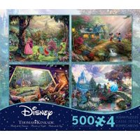 Product Image Thomas Kinkade Disney Dreams Collection 4 In 1 500 Piece Puzzle