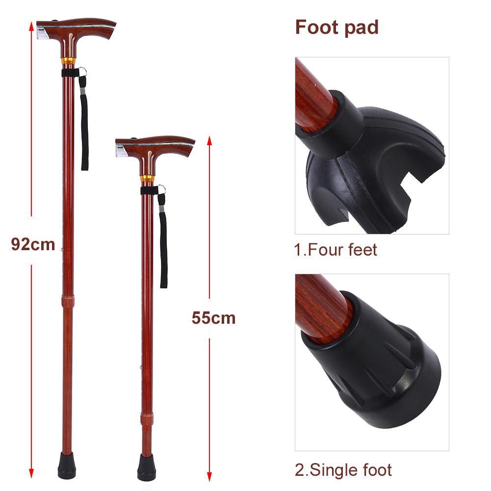 Aluminium Alloy Multi-Function Telescopic Flashlight Lightweight Cane Walking Stick , Walking Stick, Flashlight Cane
