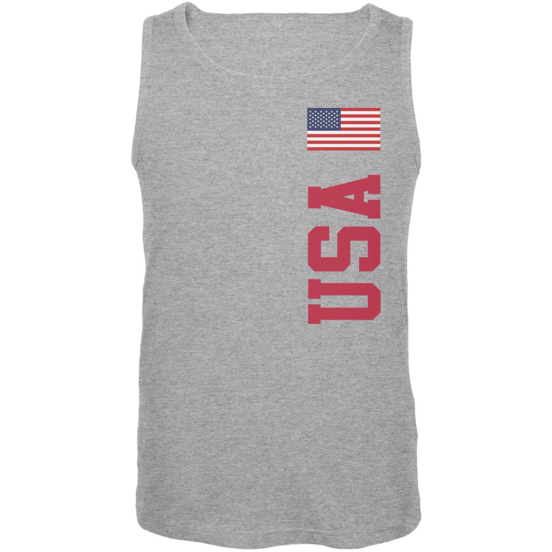 World Cup USA Heather Grey Adult Tank Top