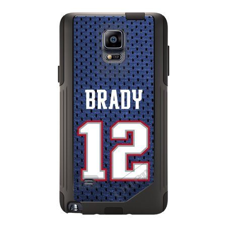 Distinctink  Custom Black Otterbox Commuter Series Case For Samsung Galaxy Note 4   Brady 12 Jersey