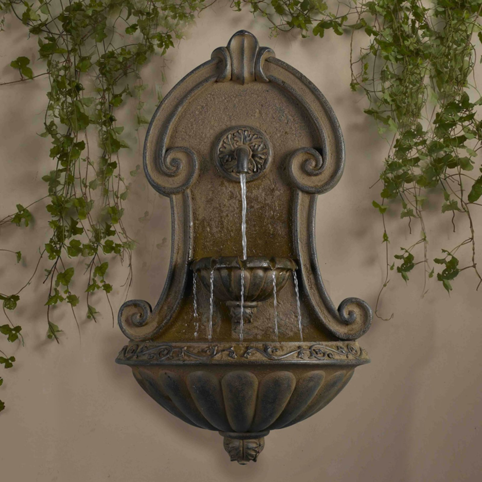 Jeco Muro Elegante Copper Finish Wall Fountain