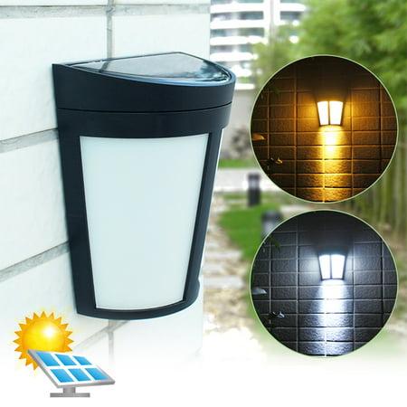 6 LED Solar Power Path Way Wall Landscape Mount Garden Fence Lamp Outdoor Light
