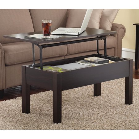 Mainstays Lift-Top Coffee Table, Multiple Colors (Coffee Table Converts To Tv Dinner Table)