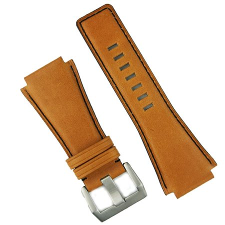 Pumpkin Spice Horween Bell & Ross BR01 BR03 Replacement Leather Watch Band