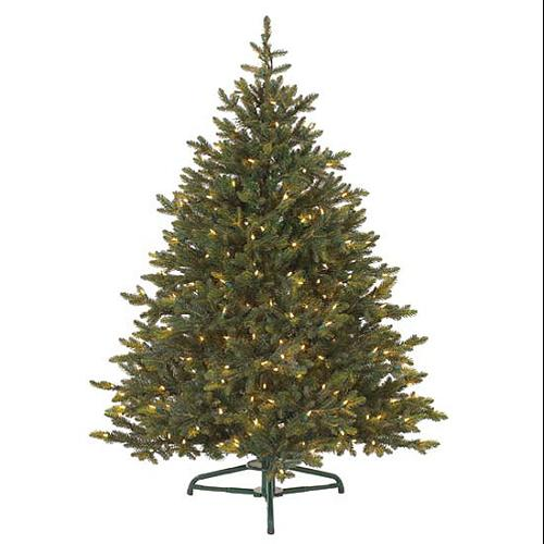 7.5' Pre-Lit Petite Pine Artificial Christmas Tree - Clear Lights