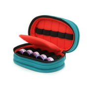 Essential Oil Carrying Case, Roll-On 5-15ml, 5-Bottle, Solid, Teal w/Coral