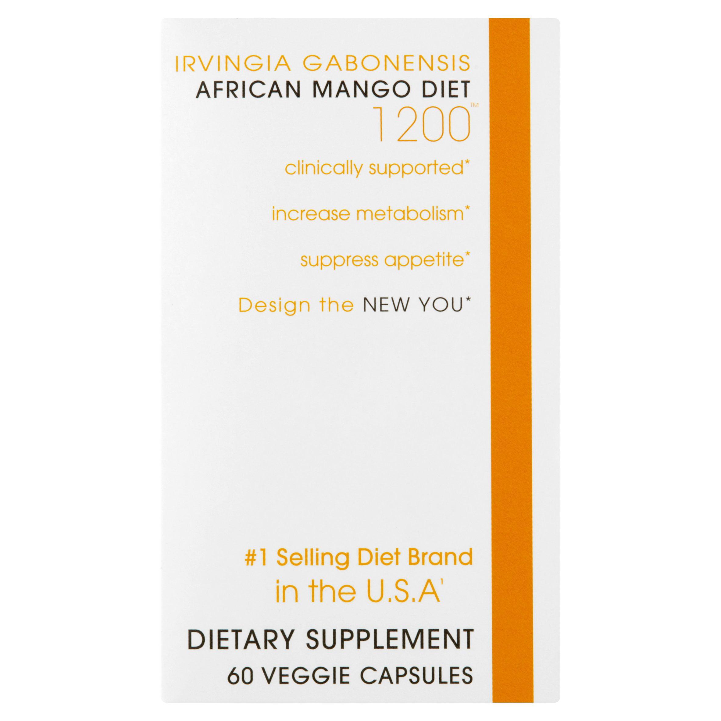 Creative Bioscience Irvingia Gabonensis African Mango Diet Veggie Capsules, 1200, 60 count
