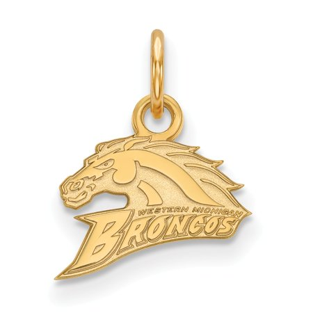 Solid 925 Sterling Silver with Gold-Toned Western Michigan University Extra Small Pendant ()