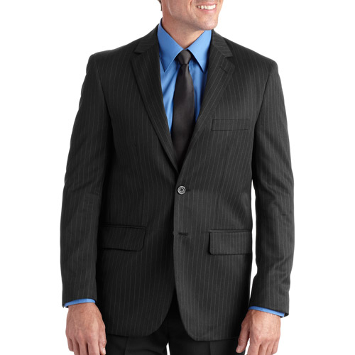 George Big Men's Pinstripe Dress Jacket