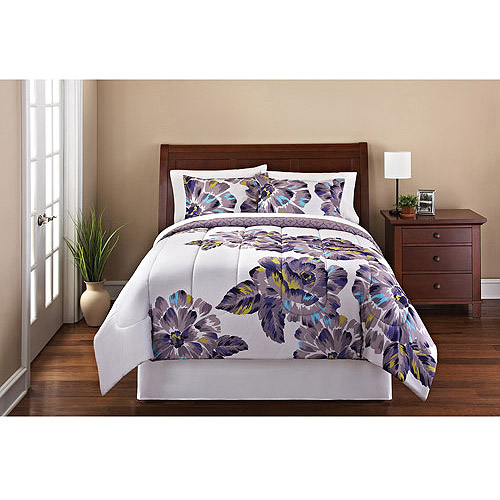 Mainstays Florence 3-Piece Reversible Bedding Comforter Set