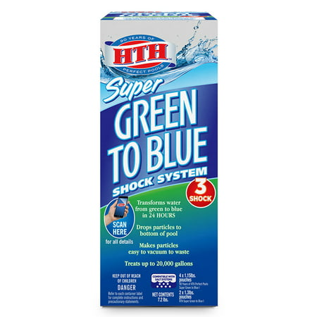 hth Pool Super Green to Blue Shock Treatment System, 7.2